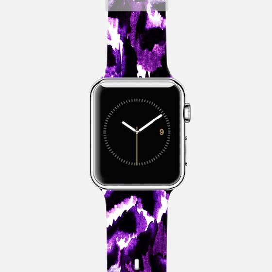 """Get $10 off using code: 5K7VFT """"Wild at Heart, Purple"""" by Artist Julia Di Sano, Ebi Emporium on @casetify Fine Art Abstract Watercolor Painting Elegant Deep Violet Lavender Purple Black White Chic Animal Print Jungle Leopard Pattern Design Colorful Cool Apple Watch Tech Device Fashion Accessories #art #fineart #purple #violet #animalprint #pattern #leopard #painting #techdevice #tech #Apple #AppleWatch #watch #time #chic #fashion #accessories #style #stylish #modern"""