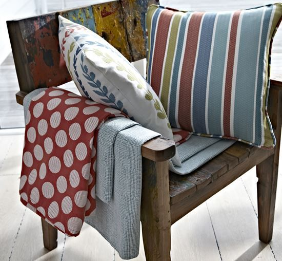 #annika #cushions #curtains #blinds #prestigious #textiles #blue #red #shabbychic #interiors #softfurnishings #denbydale #yorkshire www.ashley-interiors.co.uk