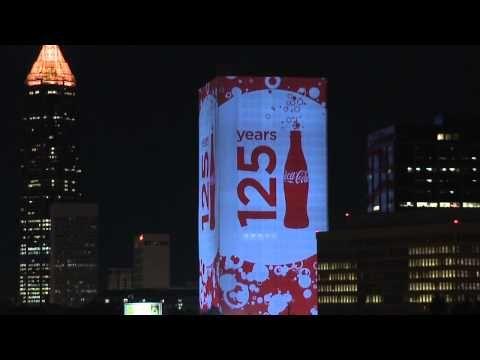 Spectacular Coca-Cola 3D 125th Anniversary Illumination