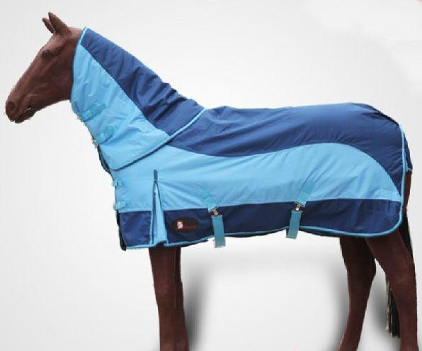 En plein air Cheval Tissu Course Automne Eau-Preuve Chaud Cheval Tapis Bleu Amovible Cheval Harnais Livraison Gratuite