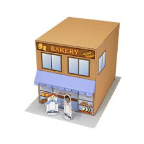 Bakery Shop - Craftown - Paper Craft - Canon CREATIVE PARK. Click on link for free printable. http://cp.c-ij.com/en/contents/2028/03449/index.html