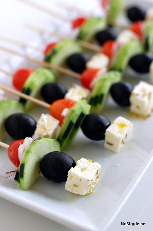 greek salad on a stick - recipe on NoBiggie.net