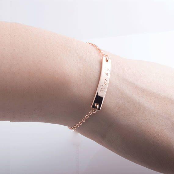 Minimal Elegant Rose Bracelet Silver Stacking Bracelet Anniversary Bracelets Gold Charm Bracelet Bridesmaid Gifts Bridal Jewelry