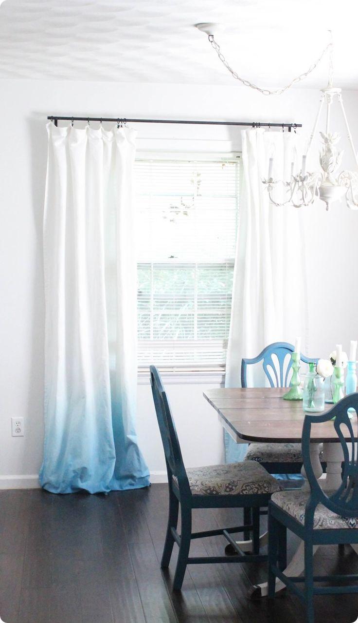 Black ombre curtains - Diy Blue Ombre Curtains