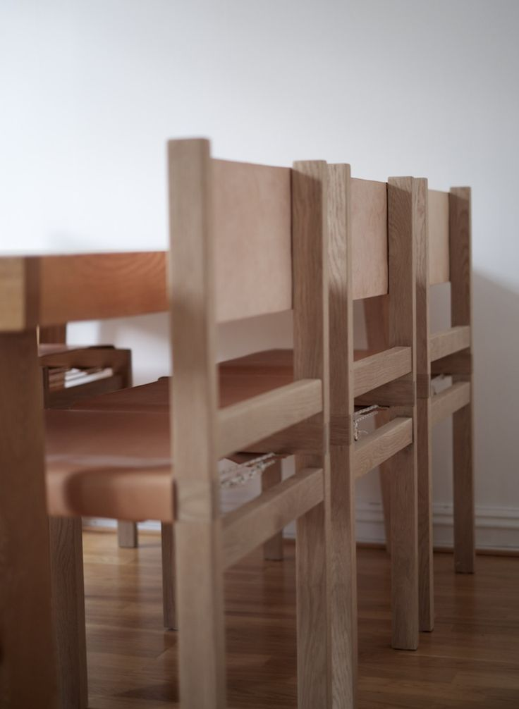 Oak leather dining chair | NH oslo