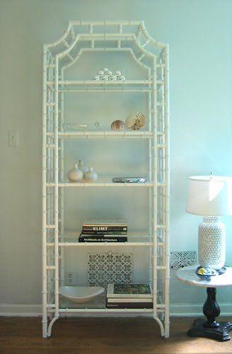 Bamboo shelf. Better if it wasn't white...