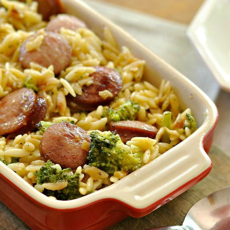 This recipe for Smoked Sausage and Cheesy Orzo is a simple and easy weeknight dish that you can prepare on the fly with the most basic ingredients. Try some