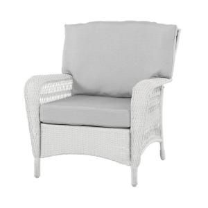 Lovely Martha Stewart Living Charlottetown White All Weather Wicker Patio Lounge  Chair With Bare Cushion