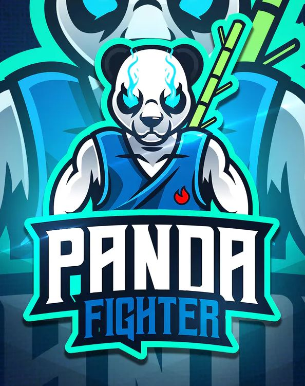 Panda Fighter - Mascot & Esport Logo Template AI, EPS