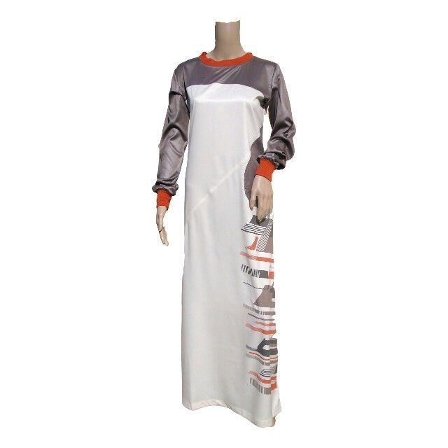 Women's RAMADAN COLLECTIONS NOW AVAIABLE Design 0333,  Colours: Cream & Brown with 2 side Pockets,  Fabric: Polyester Viscose Size 50 to 62  Available @ www.kufnees.co.za R600 Incl. Shipping Around RSA limited stock, before disappoint place your order