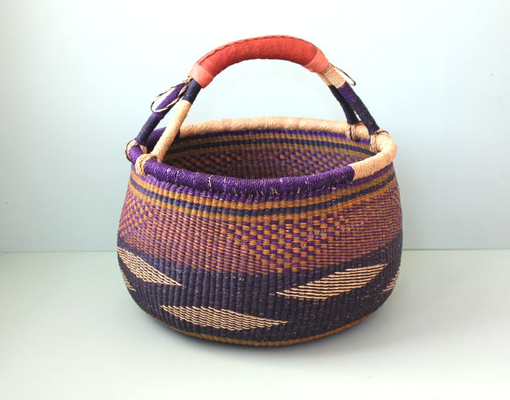 Purple_Large_Round_Bolga_Basket