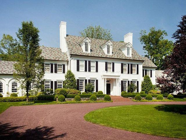 A classic: white house, black shutters
