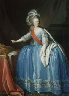 SM a Rainha D. Maria I de Portugal, Brasil e Algarves (1734 - 1816). Foi a primeira rainha reinante indiscutível de Portugal.