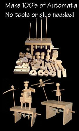 It is a kinetic which is just like a robot. And also, It is made by the woods.