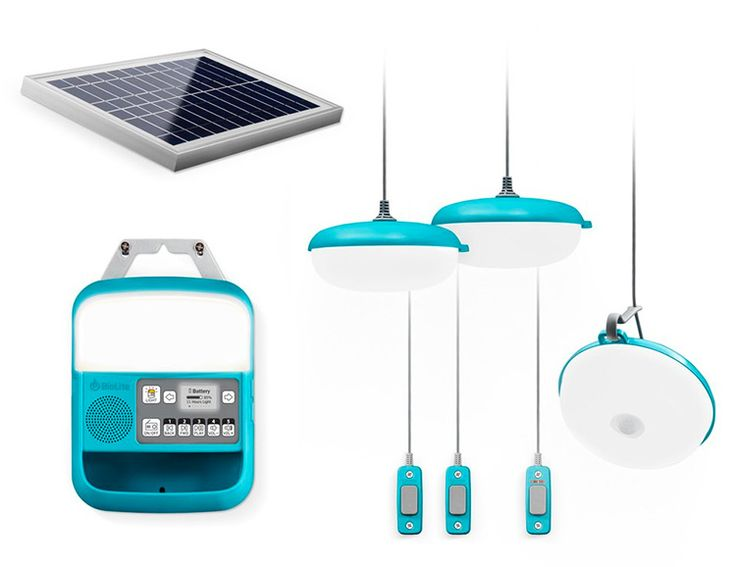The BioLite SolarHome 620 System is an Off-Grid Powerhouse — Powered by a 6 watt solar panel, the BioLite SolarHome 620 captures enough daily sun to charge up a central 20 Wh control box which powers 3 hanging lights, a USB charge-out, and an MP3/FM radio system. For camping, a cabin or any off-grid structure where you need power, lighting, and entertainment this gives you the whole system in a kit the size of a shoebox.