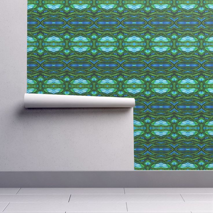 Isobar Durable Wallpaper featuring COLLAGE HORIZONTAL POSIDONIA by joancaronil | Roostery Home Decor
