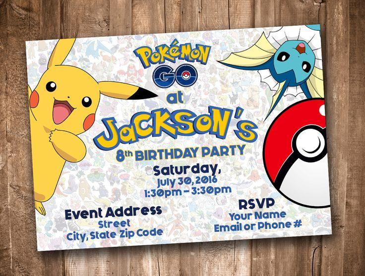 Pokemon GO Invitation *Personalized Digital Printable* by