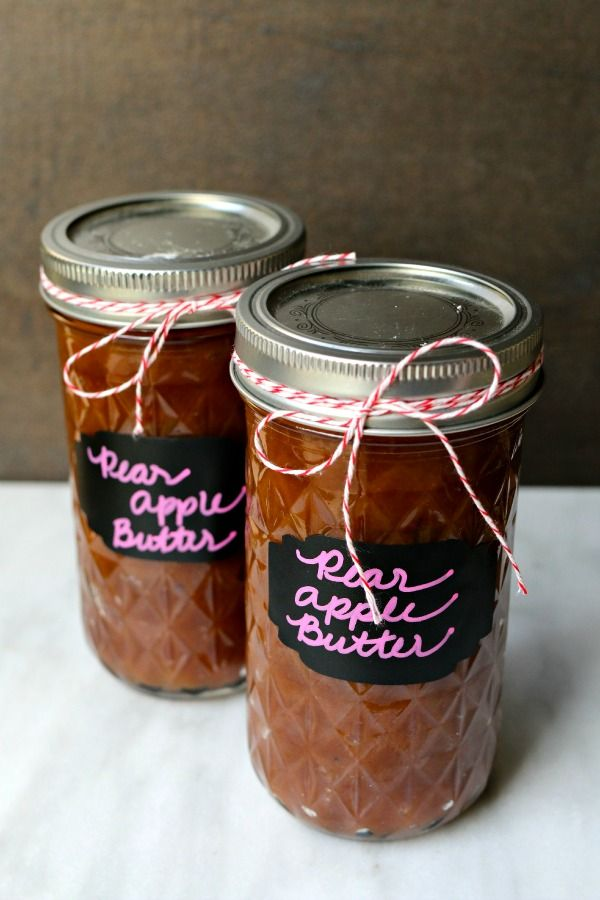 Pear and Apple Butter - Simply Happenstance