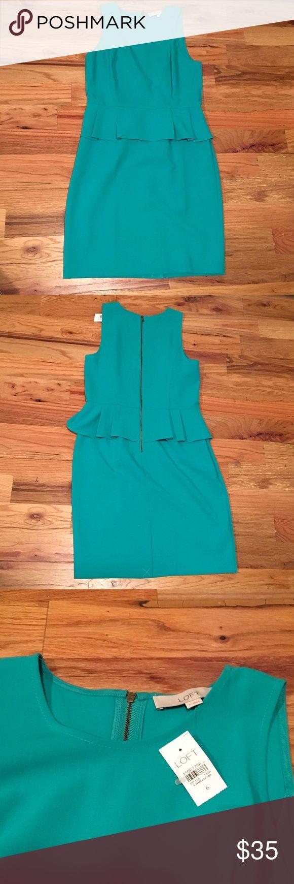 Ann Taylor Loft Dress NWT Loft teal dress. Great for work or as a summer wedding guest. LOFT Dresses
