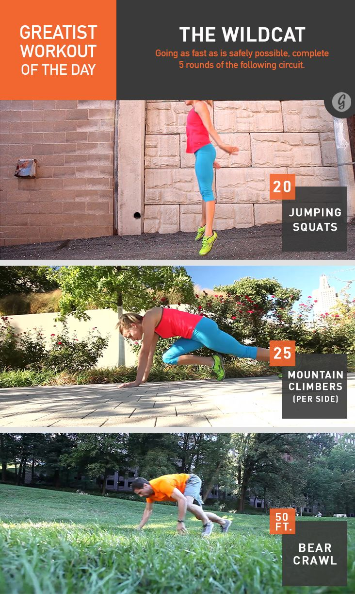 Greatist Workout of the Day: The Wildcat #fitness #bodyweight #workout
