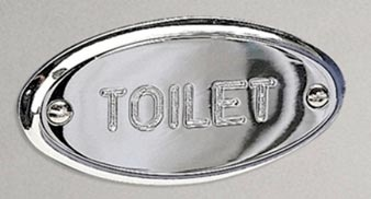Stockholm Collection Toilet Sign