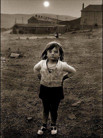 a girl, Rhondda, 1970s