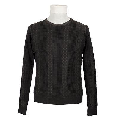 Maglia girocollo operata - Marrone - Invernale NEROVAGO. #hallofbrands #hob #maglia #sweater #jersey #knitwear #invernale #wintry #winter