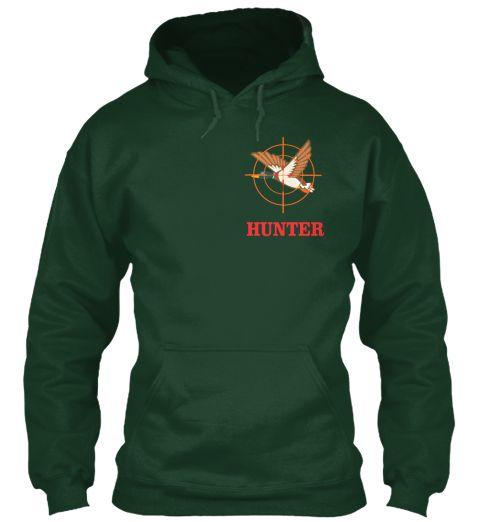 Duck Hunter Forest Green Sweatshirt Front