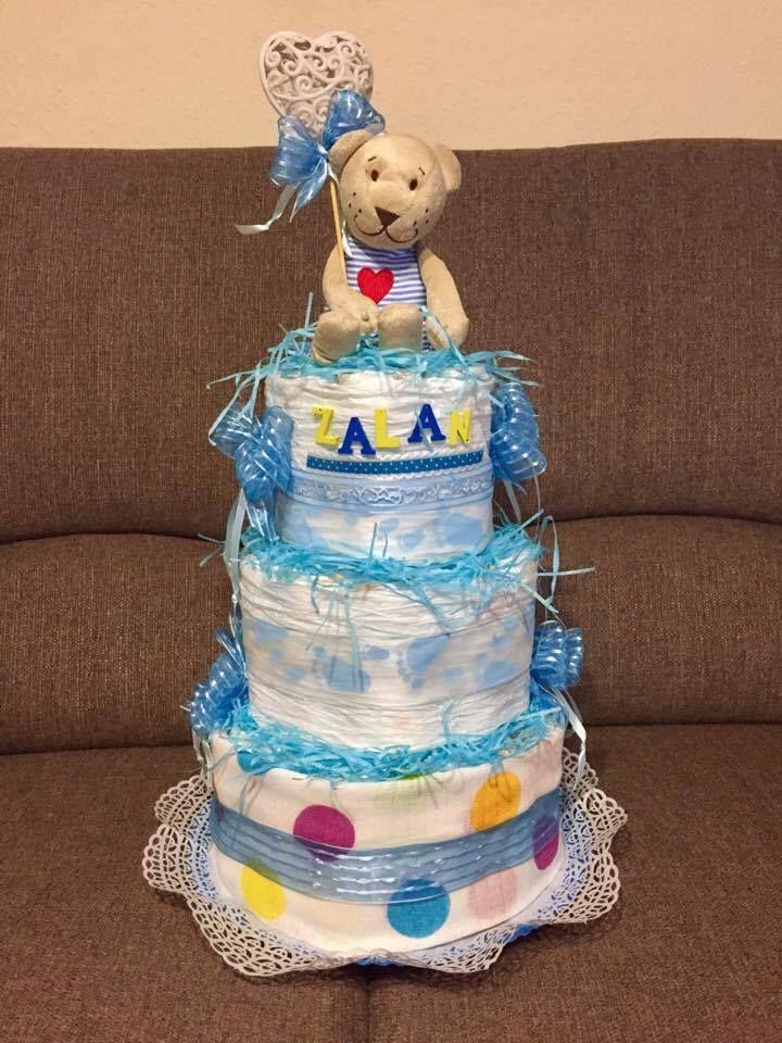 Zalán tortája csupa kék!!