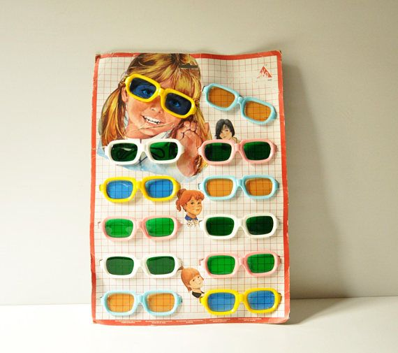 Vintage Kids Colourful Sunglasses  Set of 12  With