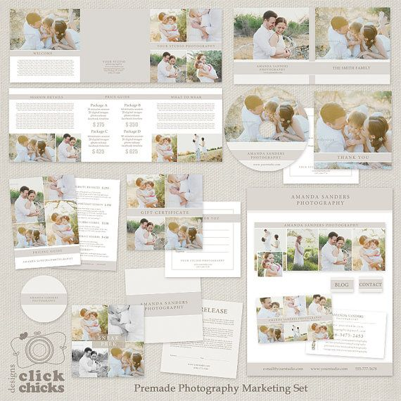 Premade Photography Marketing Templates Set by ClickChicksDesigns