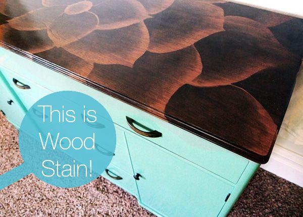 DIY Wood Stain Furniture Art