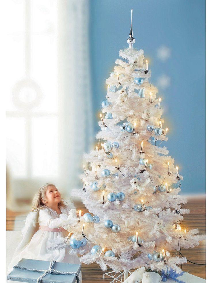 wei er weihnachtsbaum wei weihnachtsdeko im wohnen shop. Black Bedroom Furniture Sets. Home Design Ideas