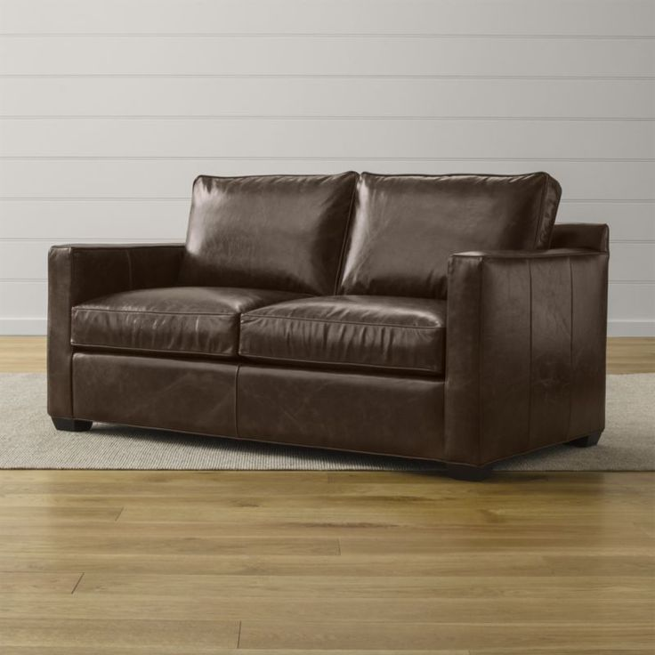 Modern Sofa Davis Leather Full Sleeper Sofa Crate and Barrel