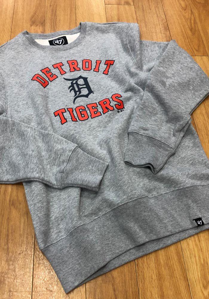 d0cb3168 47 Detroit Tigers Mens Grey Headline Crew Long Sleeve Fashion ...