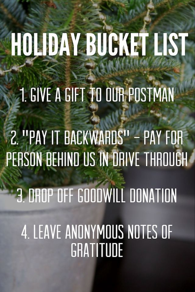 Make a Holiday Bucket List with your Family to practice Gratitude and Generosity #Christmas #actsofkindness #gifts #fordfiestamovement