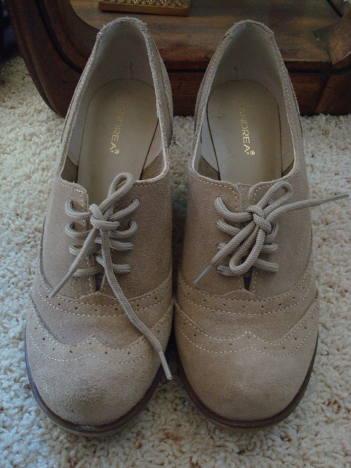 oxford wedge shoes - $20.00