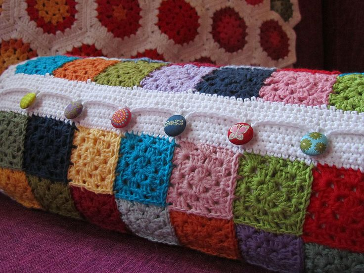 cylinder pillow cover with the cutest buttons