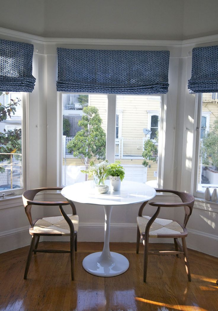 1000 images about blinds on pinterest linen roman for Roman shades for bay window