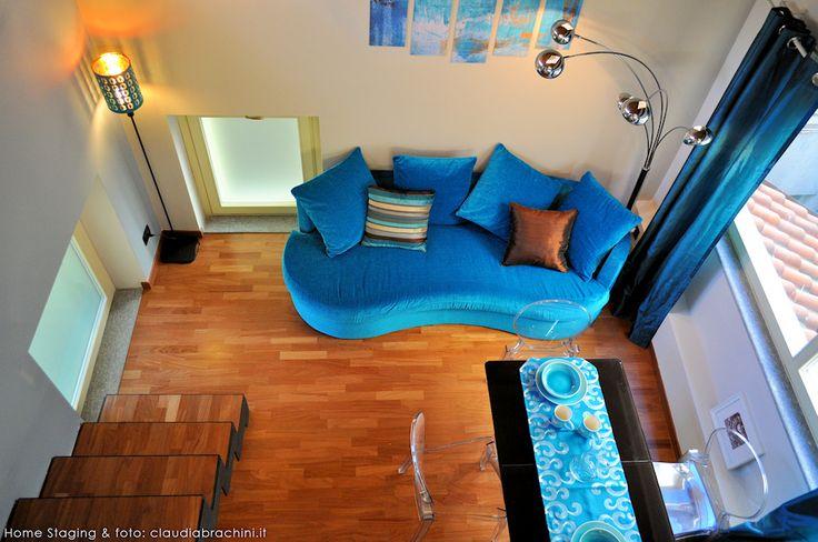 DIVANO TURCHESE TENDE OTTANIO turquoise sofa blue