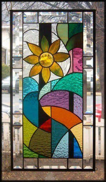 17 best images about geometric abstract stained glass for Window panel design