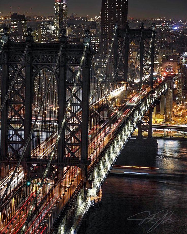 Brooklyn Bridge Amazing Night Shot Of The Landmark Bridge Night Photography Landscapes New York Life New York City Night Landscape Photography