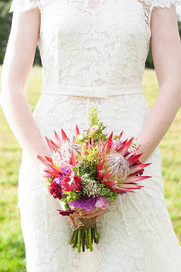 Protea wedding flowers bouquet by www.passionforflowers.net