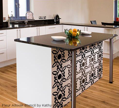 18 Best Stenciled Kitchens Images On Pinterest  Cutting Edge Cool Kitchen Stencil Designs Review