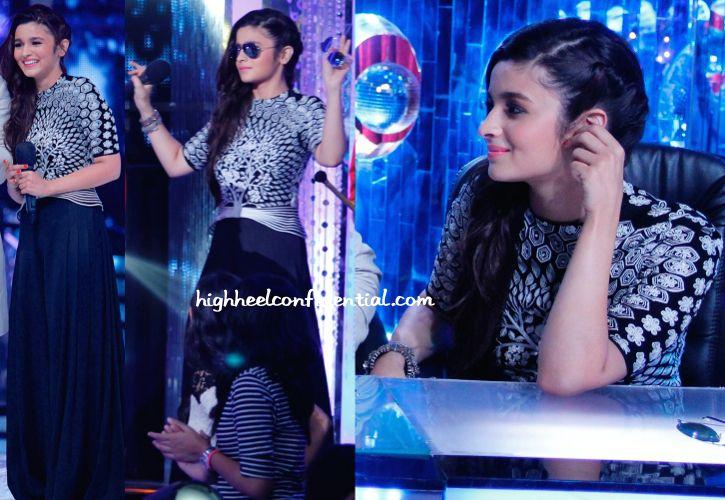 In Rahul Mishra- Alia Bhatt On 'Jhalak Dikhhla Jaa' Sets For 'Humpty Sharma Ki Dulhania' Promotions-2