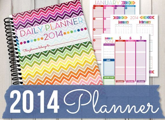 I love Erin's printables...I have all of them! INSTANT DOWNLOAD 2014 Planner RainbowPDF by HappyOrganizedLife, $5.00