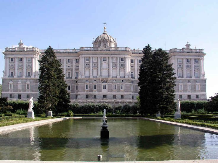 The Royal Palace, located in Madrid, Spain is one of Europe's larges palaces. It was modeled after the Palace of Versailles and has over 2000 rooms. The construction of the palace started in 1938, and it took 26 years to complete the palace.