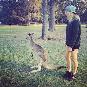 And Ellie Goulding met a kangaroo. | 17 Celebrity Instagrams You Need To See This Week