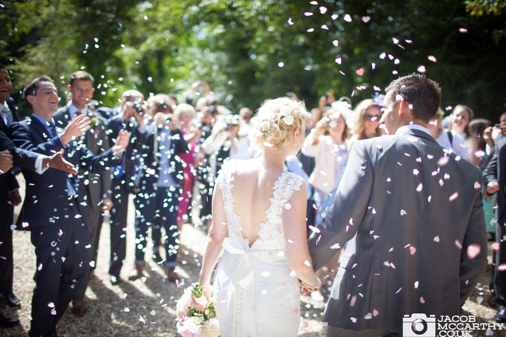 All about catching those moments. Amazing wedding at Orchardleigh House, confetti shot at its best!   Fashion inspired wedding photography from Jacob McCarthy,  See more at:  www.facebook.com/jacobmccarthyphotography www.jacobmccarthy.co.uk