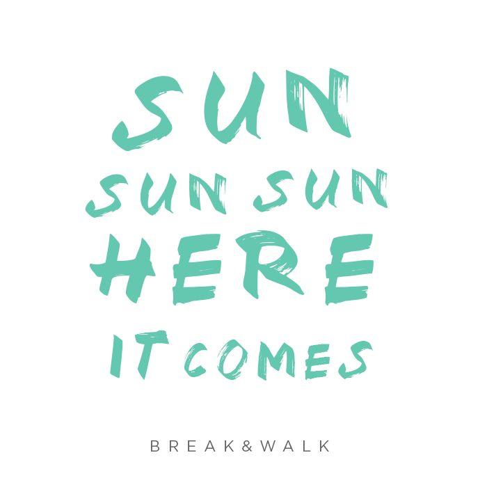 SUNGLASSES COLLECTION // SUNNIES COLLECTION BREAK&WALK